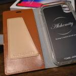 【iPhone X】シンプルでリボンがかわいい手帳型ケース|TPU素材でiPhoneXへのフィット感も抜群!