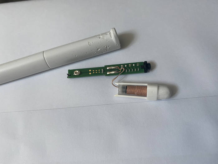 スマイルゼミのタッチペンを分解